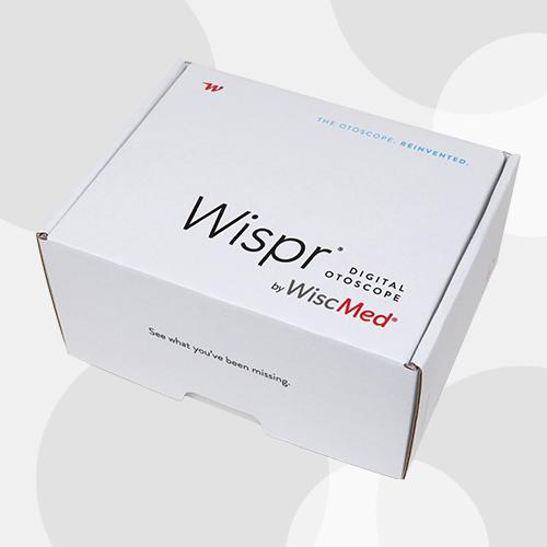 Wispr Digital Otoscope by WiscMed Package