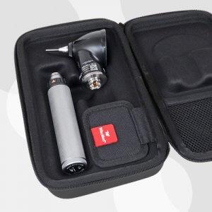 Wispr Digital Otoscope by WiscMed Carrying Case opened