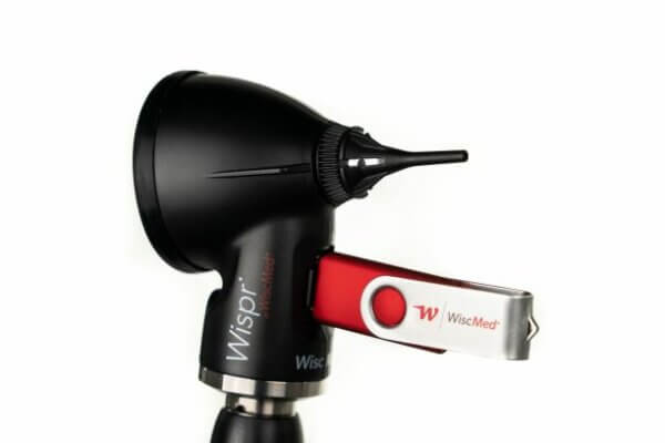 Wispr Digital Otoscope by WiscMed with WiscMed USB Thumb Drive